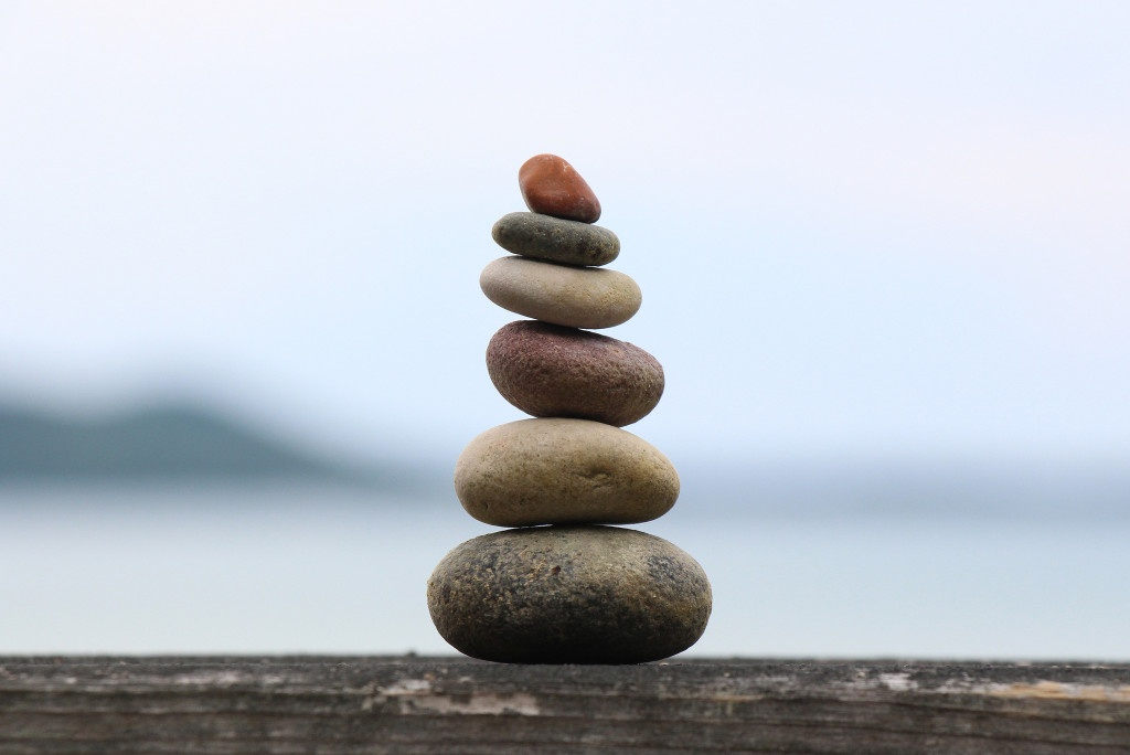 rocks stacked on top of one another